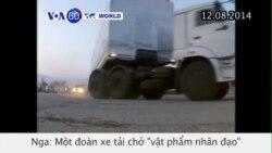 Xe tải chở 'vật phẩm nhân đạo' từ Moscow đến Ukraine bị chặn (VOA60)