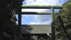 日本首相安倍晉三為靖國神社送祭品