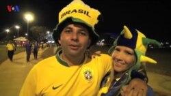 Brasileiros felizes com qualificação para os Oitavos
