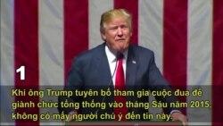 5 khoảnh khắc ấn tượng nhất về ông Trump