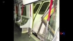 2019-03-18 美國之音視頻新聞: 香港地鐵發生罕見相撞一人受傷
