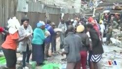Suite à l'effondrement d'un immeuble à Nairobi, l'aide s'organise