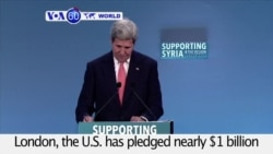 VOA60 World PM - Leaders Pledge Billions for Syrian Refugees