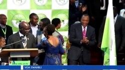 Rais Uhuru Kenyatta alipotangazwa kuwa mshindi wa kiti cha urais nchini Kenya