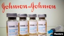 Ampule sa vakcinom za kompanije Johnson & Johnson.