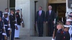 澳洲总理特恩布尔2016年9月22日访问五角大楼欢迎仪式视频