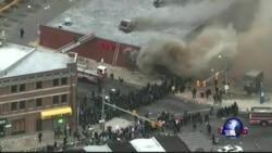美东巴尔的摩市爆发骚乱 当局宣布宵禁