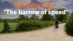 Motorized Wheelbarrow Aims to Set World Speed Record
