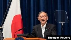 스가 요시히데 일본 총리.
