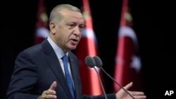 တူရကီသမၼတ Recep Tayyip Erdogan. (စက္တင္ဘာ ၁၊ ၂၀၂၀)