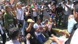Venezuela: opositores intentaron marchar hasta el Parlamento