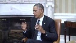 U.S. President Barack Obama and Nigeria President Muhammadu Buhari, in Washington