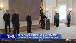 Presidenti, kancelarja gjermane dënojnë dhunën gjatë protestave