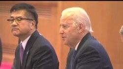 2013-12-04 美國之音視頻新聞: 拜登見習近平 會後兩人未公開談空識區
