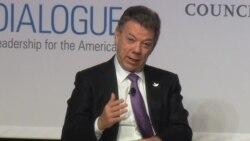 Santos busca apoyo posconflicto en Washington