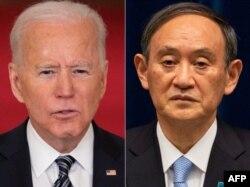 조 바이든 미국 대통령과 스가 요시히데 일본 총리.