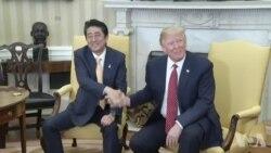 川普安倍峰会 贸易和朝鲜导弹是两大议题