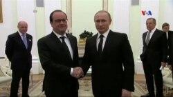 Putin İŞİD-ə qarşı mübarizədə Fransanın əməkdaşlığını qəbul edib
