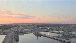 气候变暖海平面升高 美军港诺福克城未雨绸缪