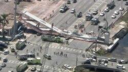 Aerial View of Florida Bridge Collapse