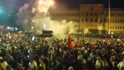 Përleshje në Shkup gjatë protestave kundër emrit të ri të Maqedonisë