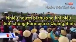 Nhiều người bị thương khi biểu tình chống Formosa ở Cồn Sẻ, Quảng Bình