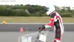 Xe mua hàng siêu thị gắn động cơ rocket