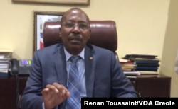 Pierre François Sildor, president of Haiti's Senate. (Renan Toussaint/VOA Creole)