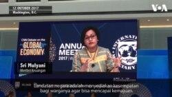 Lagarde Puji Sri Mulyani dalam Debat di IMF