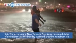 VOA60 World - Northeast floods: New York, New Jersey declare state of emergency
