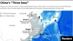 """China now rules the waves in what it calls the San Hai, or """"Three Seas"""": the South China Sea, East China Sea and Yellow Sea. In these waters, the United States and its allies avoid provoking the Chinese navy."""