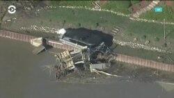 Город Мидленд, штат Мичиган, частично затопило