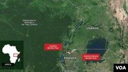 Imipaka y'u Rwanda na Uganda