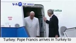 VOA60 Duniya: Papa Roma Francis ya Ziyarci Turkiyya Domin Ganawa da Shugabannin Musulmi, Turkiyya, Nuwamba 28, 2014
