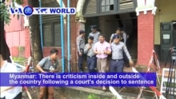 VOA60 World PM - Critics: Myanmar Reuters Verdict an Attack on Press Freedom