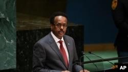 Rais wa Somalia Mohamed Abdullahi Mohamed (AP Photo/Kevin Hagen).