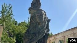 Hamza Hakimzoda Niyoziy monument, Shohimardon, Ferghana region, Uzbekistan, June, 2021.