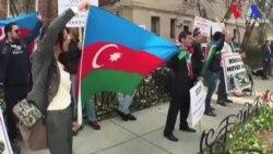 Ermenistan Büyükelçiliği'nin Önünde Protesto