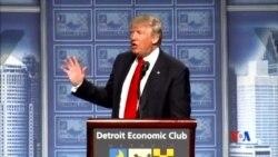 2016-08-09 美國之音視頻新聞: 川普宣布經濟政策