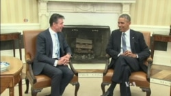 Obama, Rasmussen Meet As Multiple Crises Face NATO
