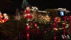 加州帕萨迪纳的圣诞灯饰