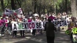 Miles marchan en México exigiendo respeto a Trump