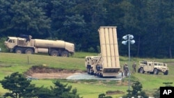 미군이 한국 성주에 배치한 '사드(THAAD)' 고고도 요격 미사일.