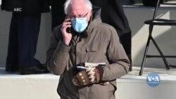 Історія про фото-жаби та «фірмові» рукавички сенаторa Берні Сандерсa, що захопили інтернет. Відео