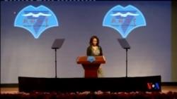 2014-03-25 美國之音視頻新聞: 米歇爾向中國學生介紹美國在民權自由等領域的進步
