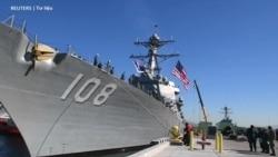 Tàu chiến Mỹ tuần tra áp sát Đá Chữ thập, Vành Khăn