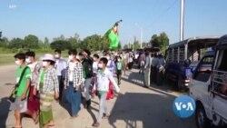 မဲမသမာမႈရွိခဲ့တယ္ဆို ၿပီး USDP ေထာက္ခံသူေတြ UEC ကို ဆႏၵျပ