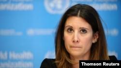 FILE PHOTO: World Health Organization holds daily news briefing on coronavirus, in Geneva