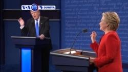 VOA60 DUNIYA: USA Masu Neman Takarar Shugabancin Amurka, Donald Trump da Hillary Clinton Sun Yi Muhawara Kan Tattalin Arziki