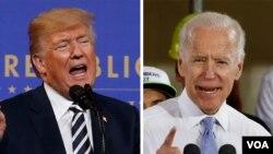 미국 대선 후보 도널드 트럼프 미국 대통령과 조 바이든 미 전 부통령.